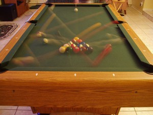 Billiards break