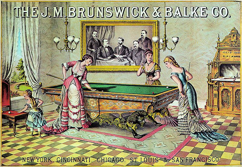 Early 1880s Billiards Ladies