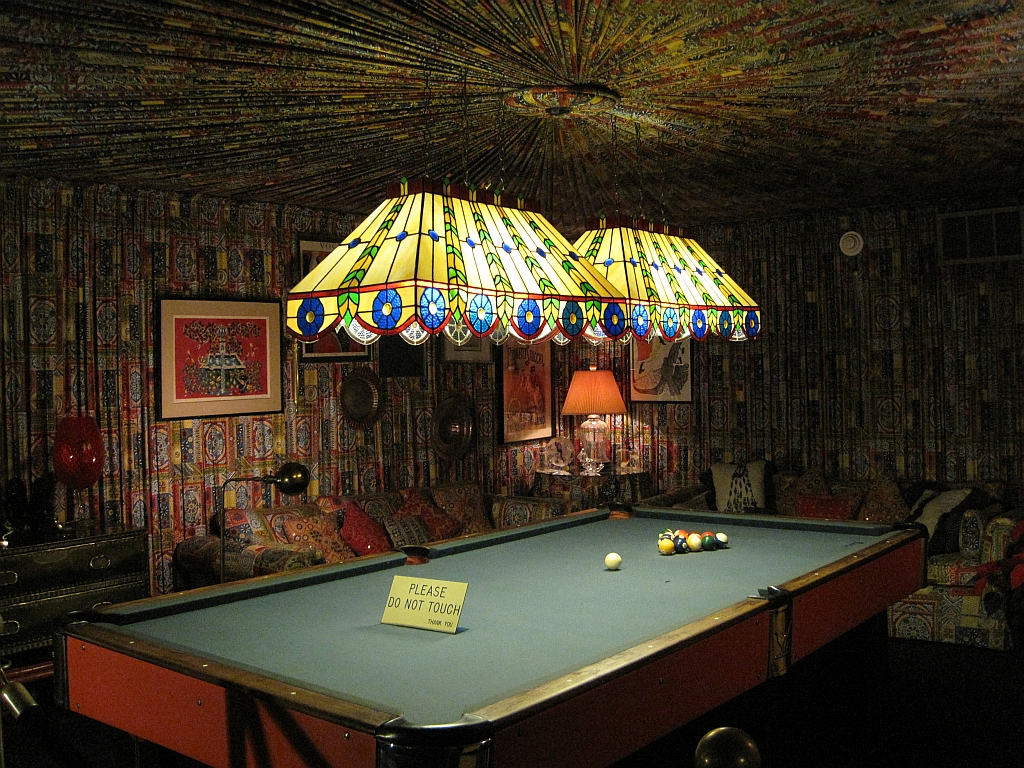 Pool Table with Fancy Lighting
