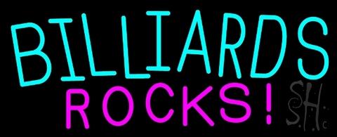 Billiards Rocks Neon Sign