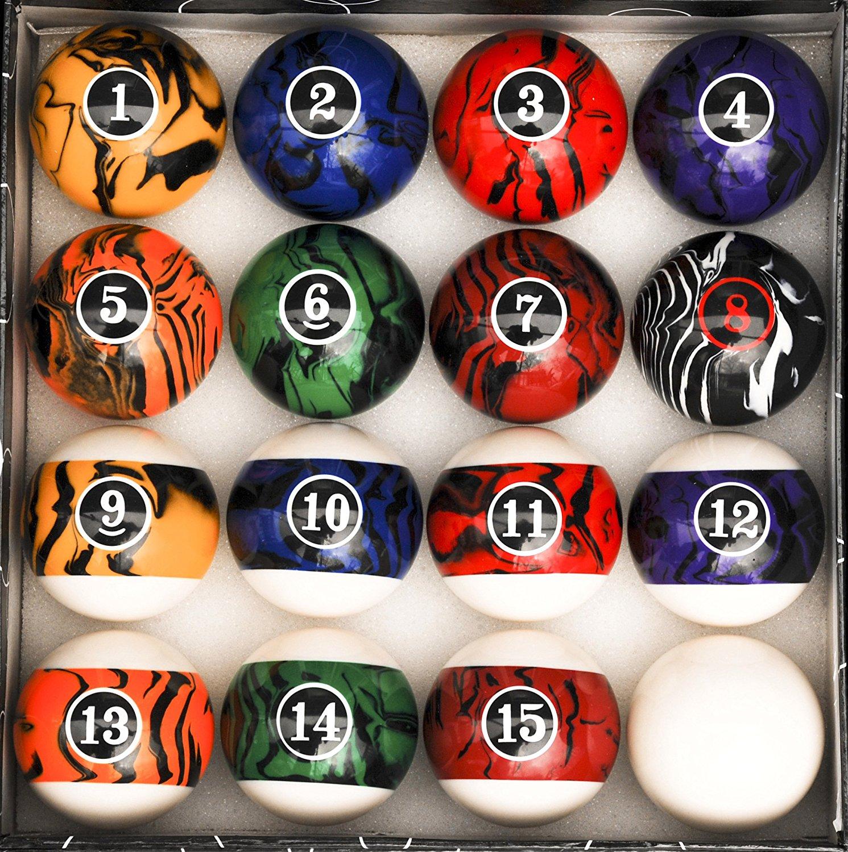 Black Marble Swirl Balls