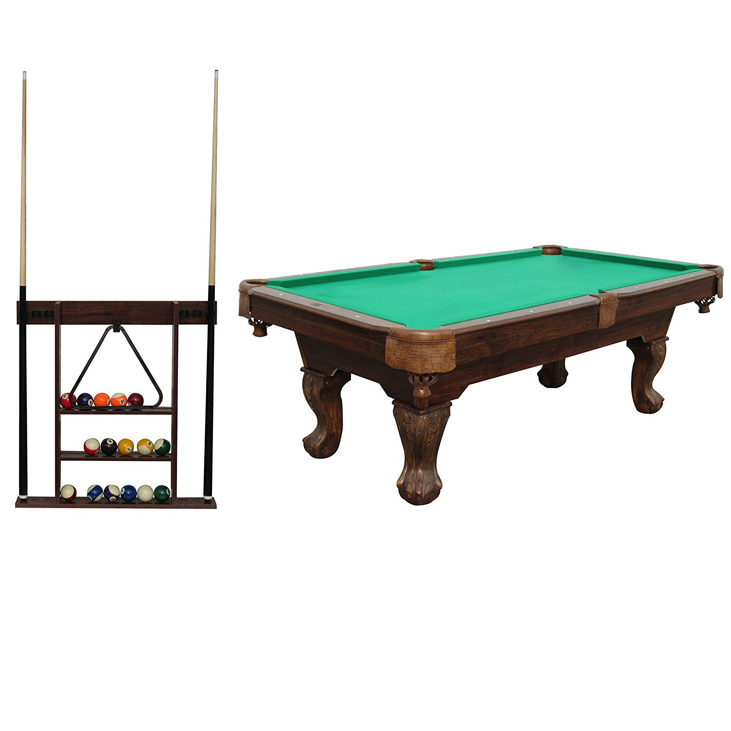 Pool Table With Cue Rack