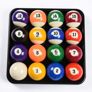 Billiards Balls With Tray
