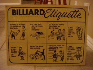 Billiards Etiquette Picture